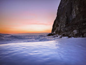 Winter evening at  Cape Burkhan. by 8moments