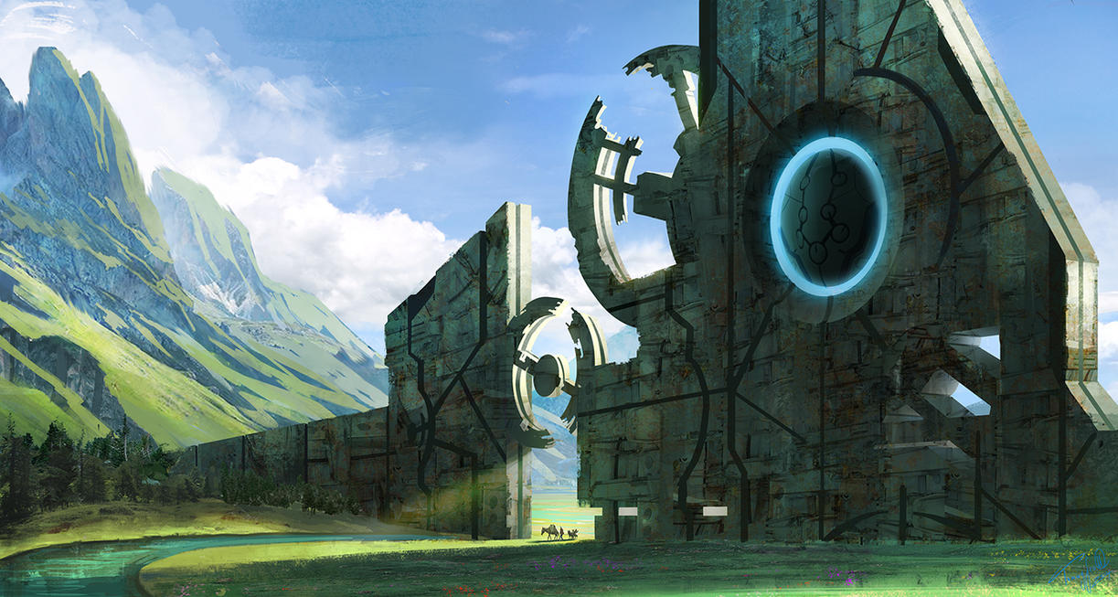 Ancient Structure by tommyscottart