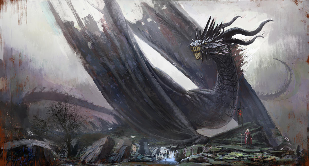 Balerion, The Black Dread by tommyscottart