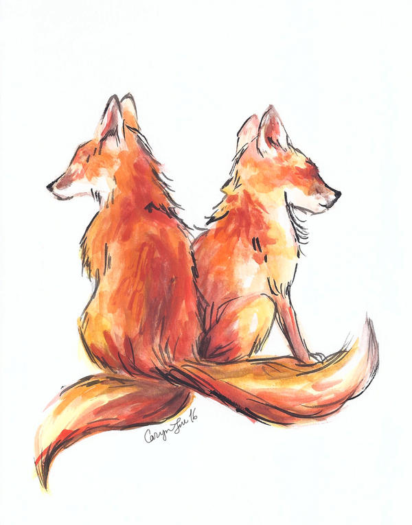 Red Fox Watercolor