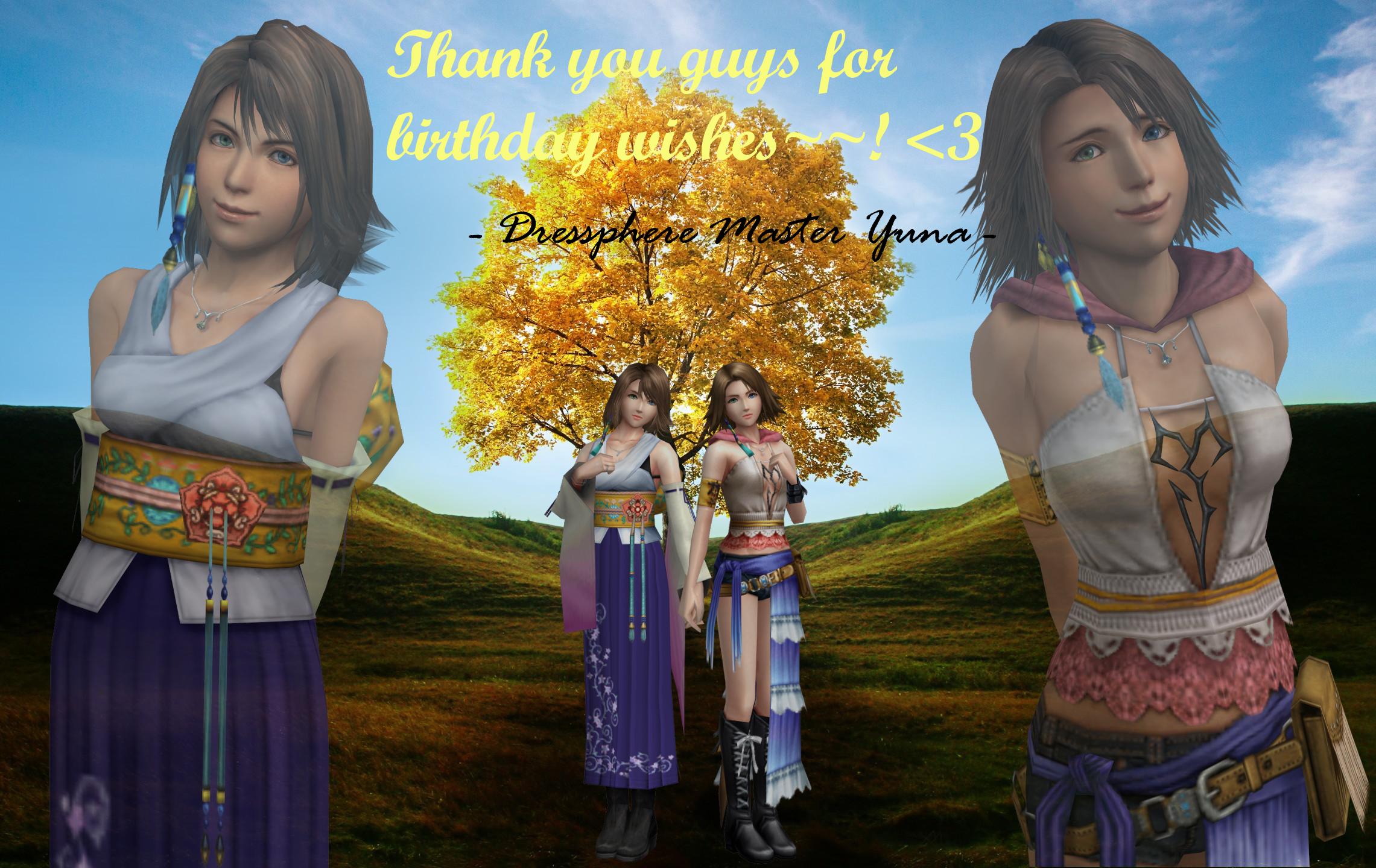 Thank you~~! ^_^ by DressphereMasterYuna