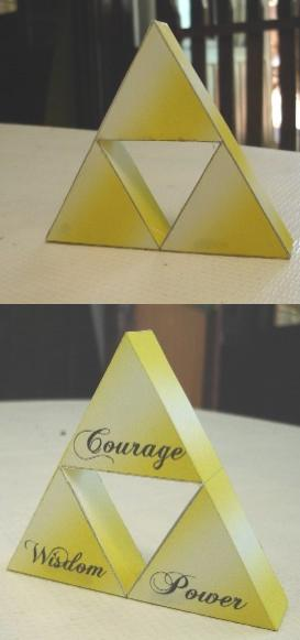 Triforce Papercraft Finished by ryo007