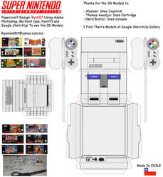 Snes Papercraft set by ryo007