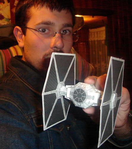 Star Wars Paper Tie Fighter by ryo007