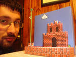 Mario W1-1 Papercraft Diorama