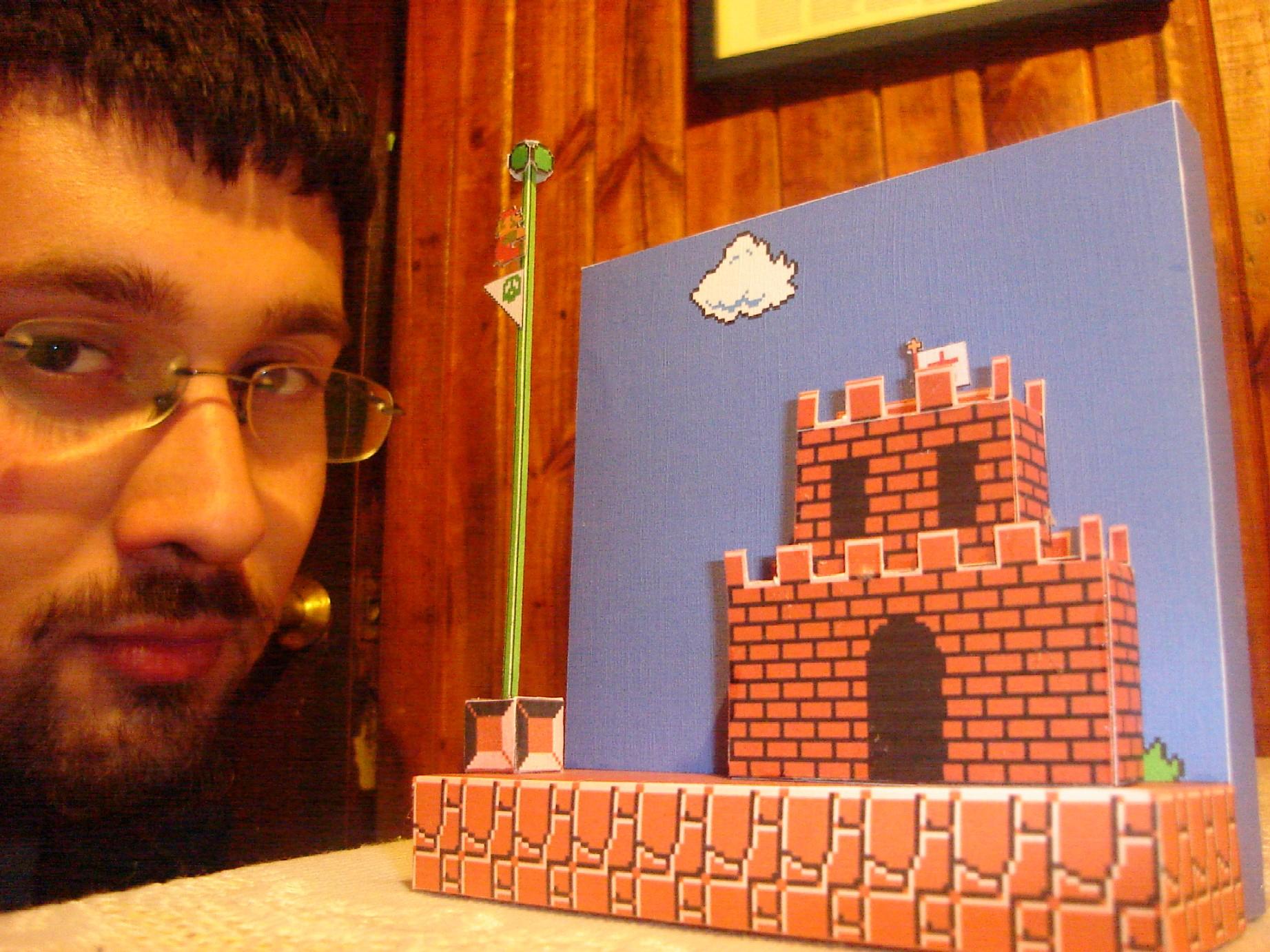 Mario W1-1 Papercraft Diorama by ryo007