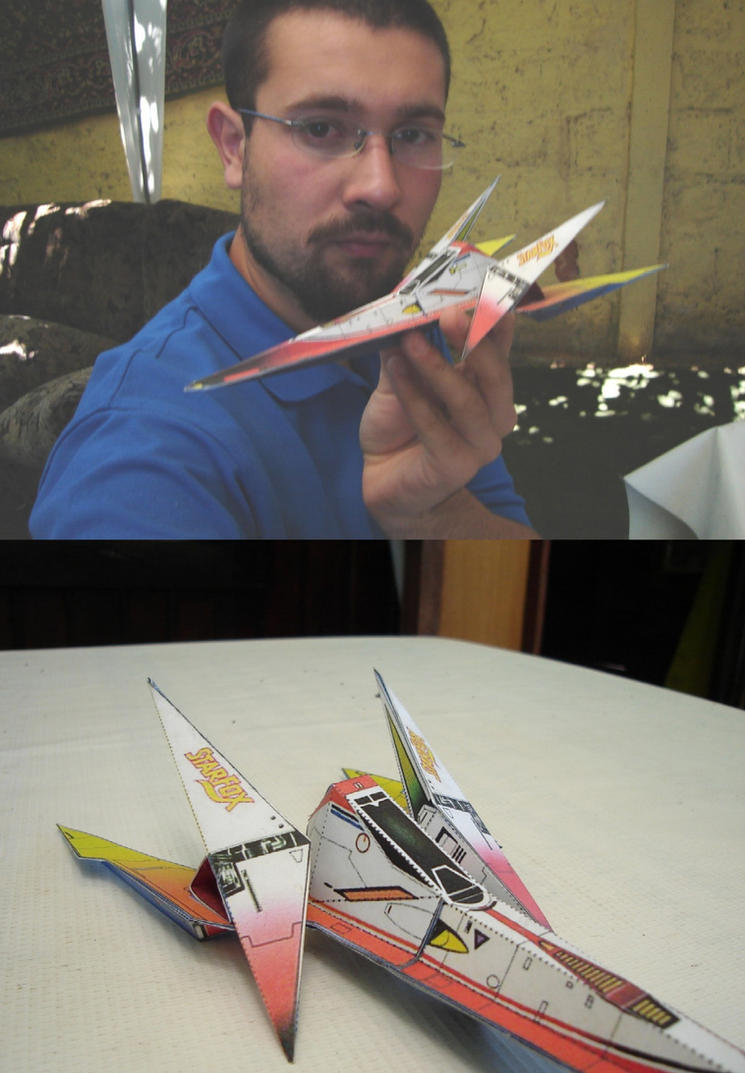 Star Fox Arwing Papercraft by ryo007
