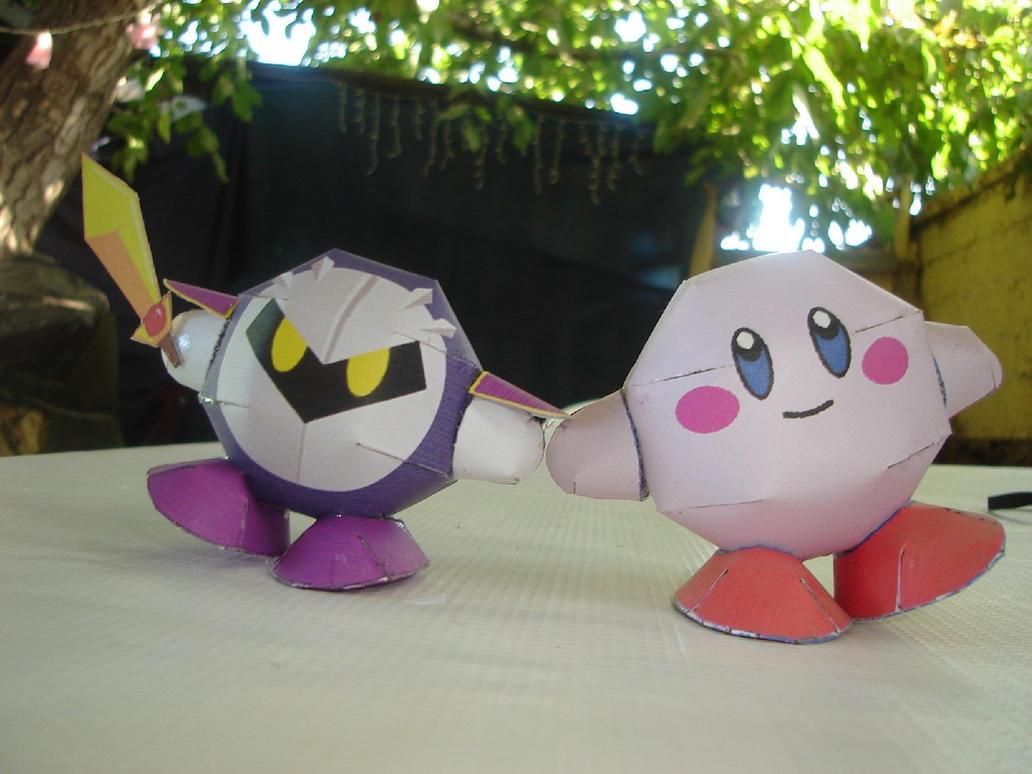 Kirby-MetaKnight Papercrafts by ryo007