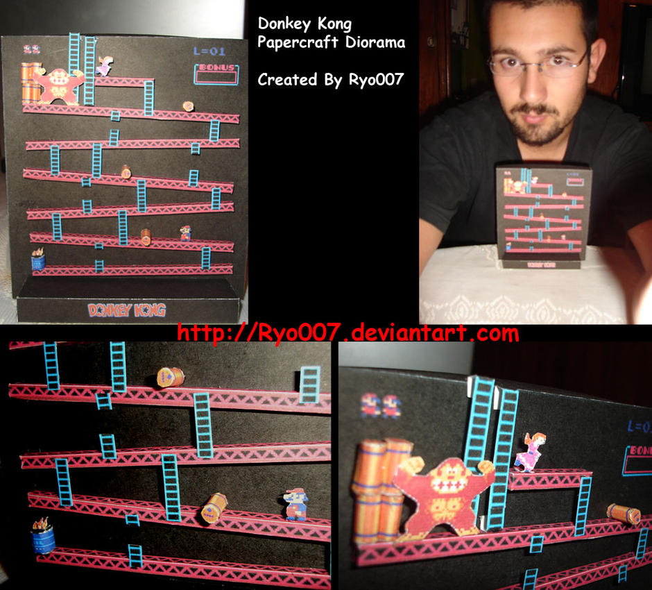 Donkey Kong Diorama Finished by ryo007