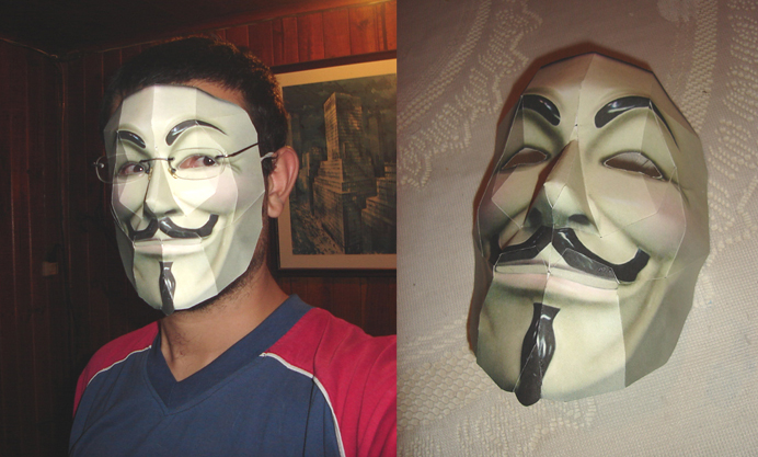 V For Vendetta Paper Mask by ryo007