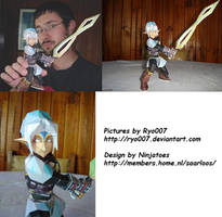 Fierce Deity Link Papercraft by ryo007