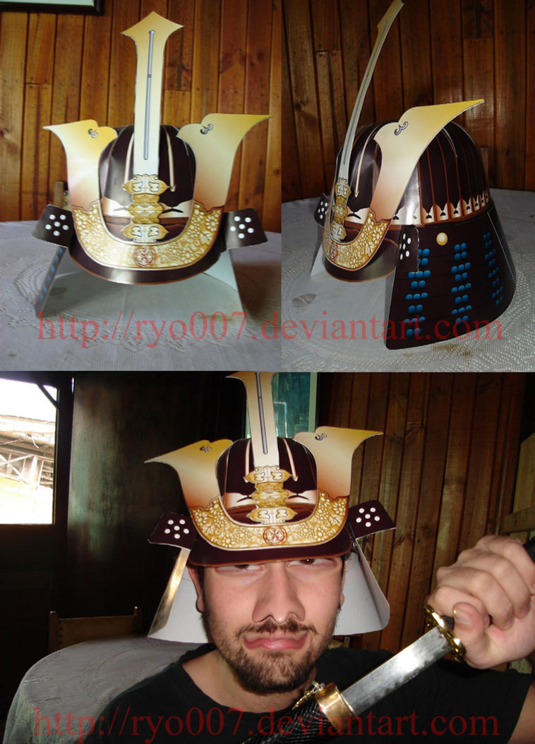 Samurai Helmet Papercraft by ryo007