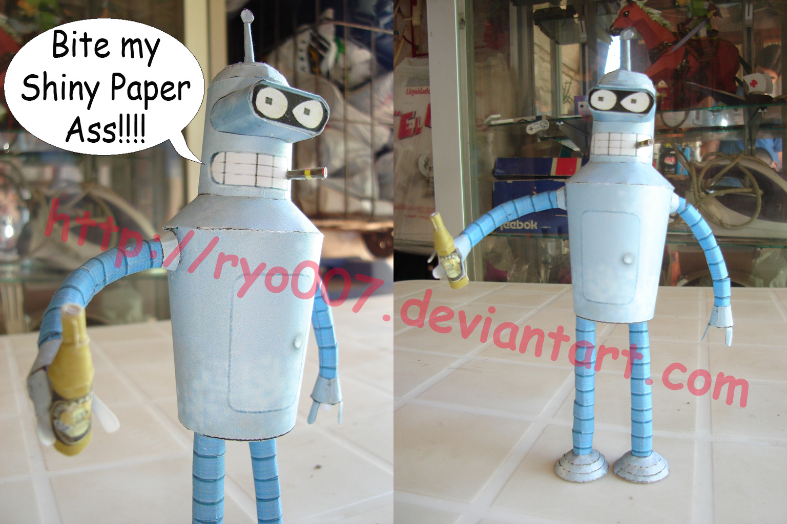 Bender Papercraft by ryo007