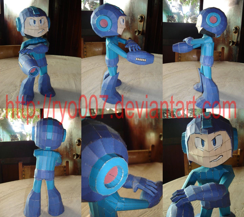 Megaman Papercraft by ryo007