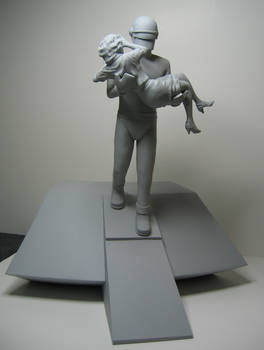 Gort with Girl Sculpture
