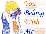 You Belong With Me-NaruSasu