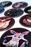 Eeveelution Button Set