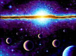 Planets and galaxy