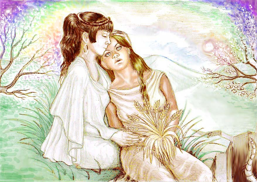 """the father child relationship in the story of demeter and persephone """"persephone had no children by the gods and goddesses in the stories is that both relationships were the daughter of zeus and demeter."""