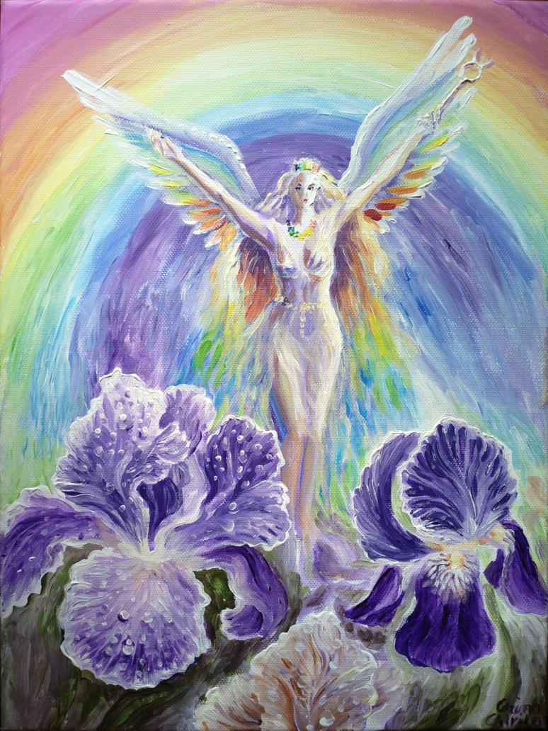 Iris The Rainbow Goddess By Corinazone On Deviantart