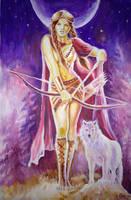 The Dacian goddess Bendis by CORinAZONe