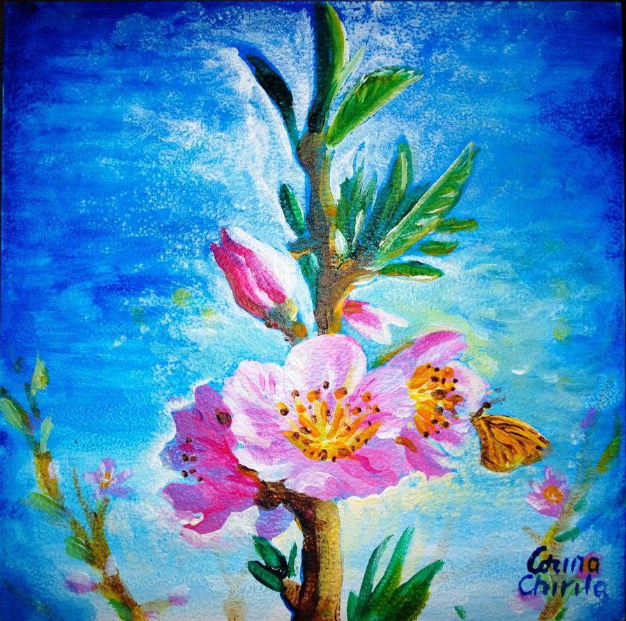 Prunus persica flowers by CORinAZONe