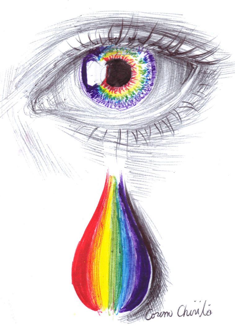 Rainbow tears by CORinAZONe