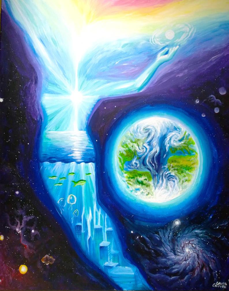 Spirit of Atlantis surrealist painting by CORinAZONe