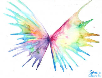 colorful wings by CORinAZONe