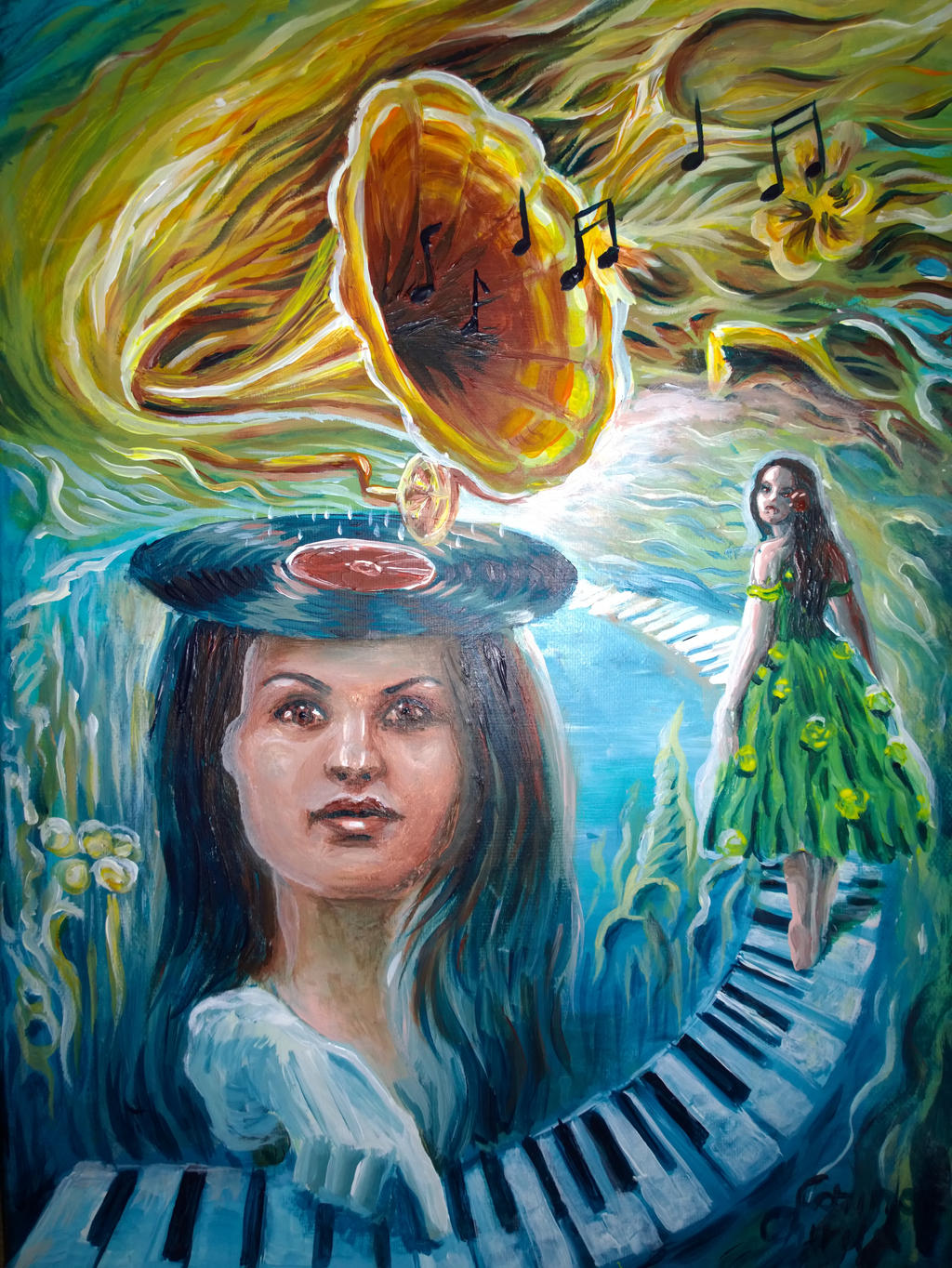 Piano - A painting about music by CORinAZONe