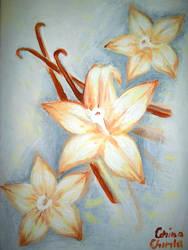 Vanilla Flowers Painting - Flori De Vanilie Pictur by CORinAZONe