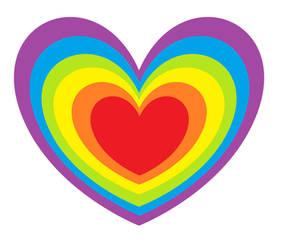 Rainbow Heart by CORinAZONe