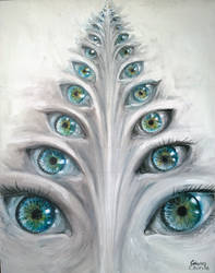 Eyes See You Painting - Priviri O Pictura Despre N by CORinAZONe