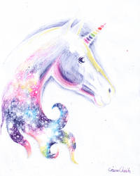 Unicorn head by CORinAZONe