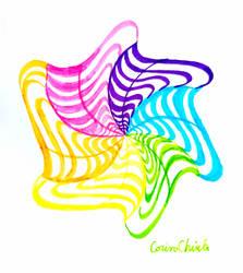 Rotating rainbow vibes