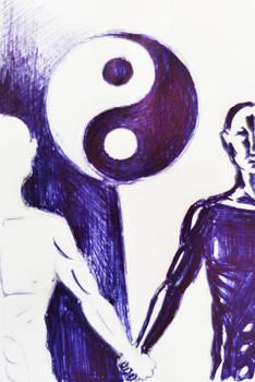 Yin-yang Lovers Drawing