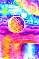 Alien dreamscape drawing