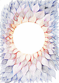 Solar floral pattern abstract drawing
