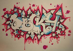Becky graffiti by vetalas