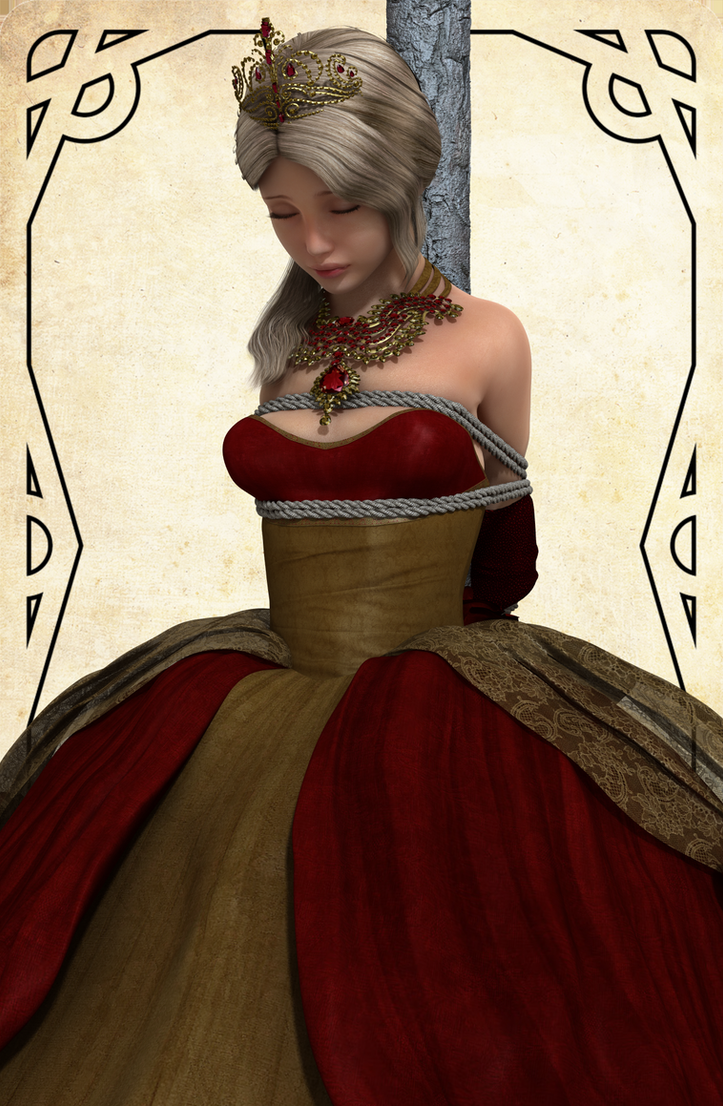 Captured Princess in New dress by NoBuNoBuNoBuNoBu
