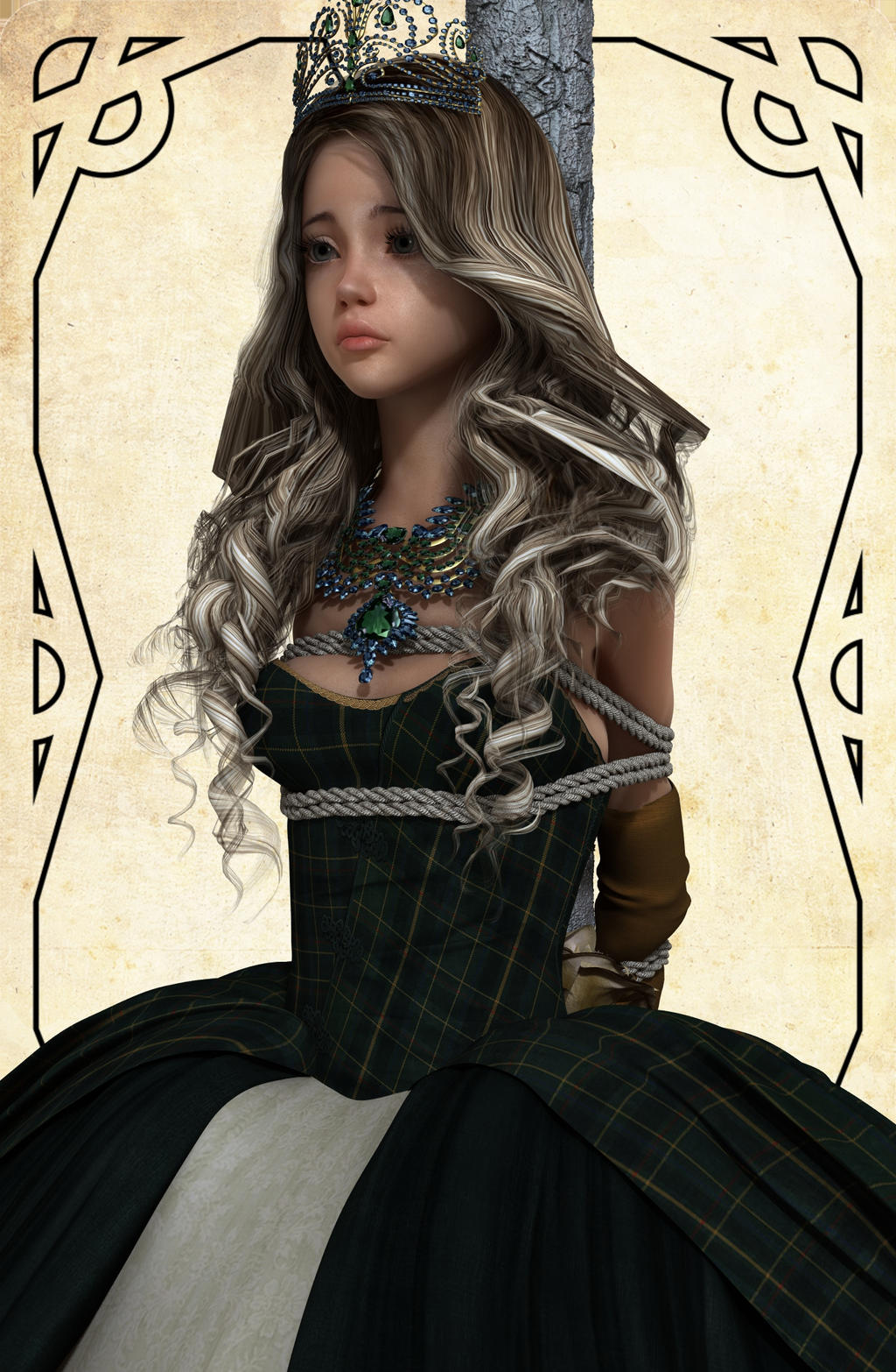 Captured Princess in New dress Giselle by NoBuNoBuNoBuNoBu