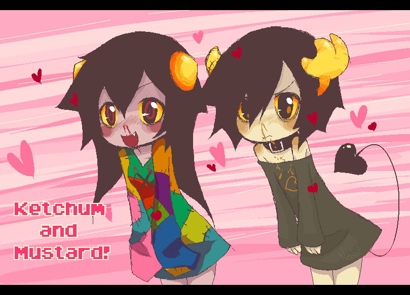 Art to see,sniff and taste! Ketchum_and_mustard_by_nedoiko-d4li1kr