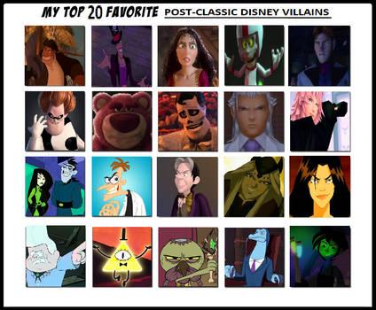 My Top 20 Favorite Post-Classic Disney Villains