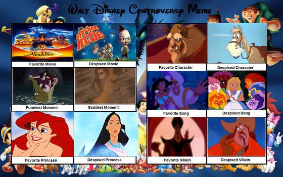 My Disney Controversy Meme