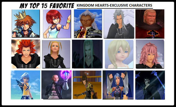 My Top 15 Kingdom Hearts Exclusive Characters