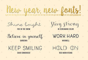 2016 My new fonts :]