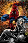 Spidey and Black Cat by MIKE