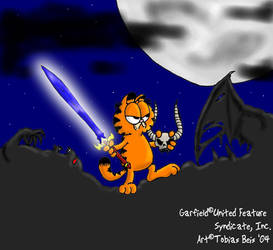 Demon Slayer Garfield by Eddi-