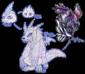 Ruthless Defenders - Digimon Sheet - Gabumon by Eddie-chan