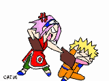 Anim: Sakura beats up Naruto by PinayNaruto